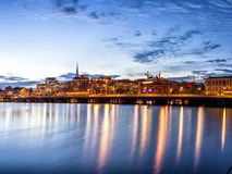 Stockholm sunset skyline panorama Royalty Free Stock Photo