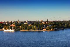 Stockholm at sunset, Sweden Royalty Free Stock Image