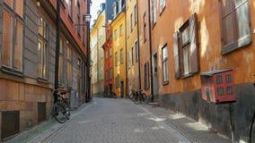 STOCKHOLM - SVERIGE, AUGUSTI 2015: gammal stadssikt lager videofilmer