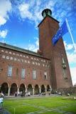 STOCKHOLM SVERIGE - AUGUSTI 20, 2016: Turister går och besöker Sto Arkivbilder