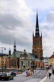 Stockholm Sverige, den kyrkliga Riddarholmskyrkanen Royaltyfria Foton