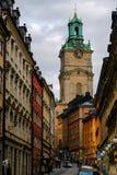 Stockholm Sverige, den kyrkliga Storkyrkanen Royaltyfri Fotografi