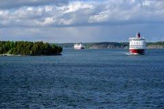 Stockholm Sverige färjan Viking Line Arkivfoto
