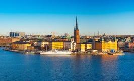 Stockholm Sverige: Flyg- sikt av Stockholm Royaltyfri Foto