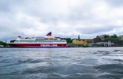 Stockholm/Sverige - Maj 15 2011: Viking Line sänder Gabriella i Stockholm arkivbild