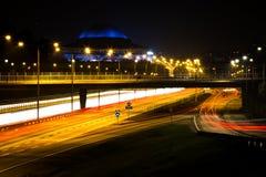 Stockholm Sverige nattetid Arkivfoto