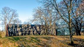 Stockholm Sverige - Oktober 28, 2016: Den nordiska museumsvensken: Nordiska museet är ett museum som är hängivet till kulturhisto Royaltyfria Foton