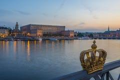 Stockholm Sverige slottkunglig person Arkivfoto