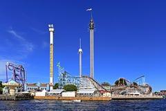 Stockholm Sverige - Tivoli Grona Lund - Gronan - nöjesfält Arkivfoton