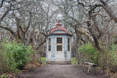 Summer House, dating from 1700, at Skansen open-air museum in Stockholm royalty free stock photography