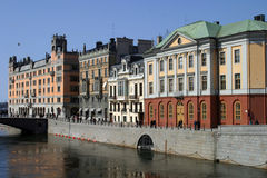 Stockholm - Sweden. Stockholm, capital of Sweden with beautiful old buildings and architecture Stock Photos