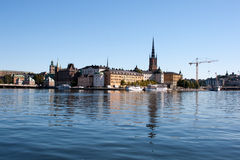 Stockholm, Sweden. Stockholm city view in sunny day Royalty Free Stock Photo