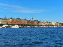 Stockholm, Sweden. Scenic summer panorama of Stockholm, Sweden stock photography