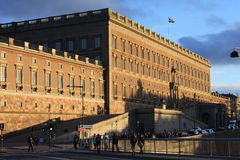 Stockholm, Sweden: april 1. 2017 - panorama of the Old Town Gamla Stan architecture in Stockholm, Sweden Royalty Free Stock Images