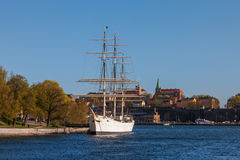 STOCKHOLM, SWEDEN -  April 30, 2011: Sailing Stock Photo