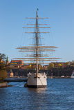 STOCKHOLM, SWEDEN -  April 30, 2011: Sailing Royalty Free Stock Photo