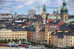 STOCKHOLM, SWEDEN - AUGUST 20, 2016: Aerial view of Stockholm fr Royalty Free Stock Photography