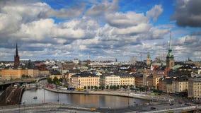 STOCKHOLM, SWEDEN - AUGUST 20, 2016: Aerial view of Stockholm fr Royalty Free Stock Image