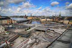 STOCKHOLM, SWEDEN - AUGUST 20, 2016: Aerial view of Stockholm fr Stock Photography