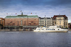 STOCKHOLM, SWEDEN - AUGUST 19, 2016: Grand Hotel in Stockholm is Stock Image