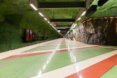 STOCKHOLM, SWEDEN - AUGUST 16, 2014: Kungstradgarden metro station on August 16, 2014 in Stockholm, Sweden. Stock Images