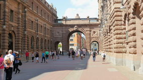 STOCKHOLM - SWEDEN, AUGUST 2015: old city and parliament view stock video