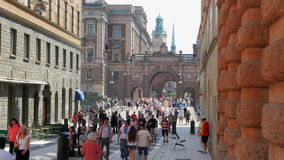 STOCKHOLM - SWEDEN, AUGUST 2015: old city view stock video