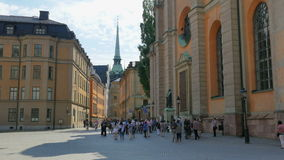 STOCKHOLM - SWEDEN, AUGUST 2015: old city view stock footage