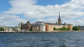 STOCKHOLM - SWEDEN, AUGUST 2015: old city view stock video footage