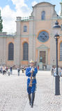 Stockholm, Sweden - August 18, 2014 - Royal Guard at the Royal Palace(in Old Town Gamla Stan), Main Guard at Palace is Swedish A Stock Photo