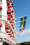 "STOCKHOLM SWEDEN-Â ""AUGUSTI 21, 2017: Fasad av hotelldiplomaten Arkivbild"