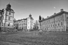 Stockholm sweden capital in black and white Stock Photo