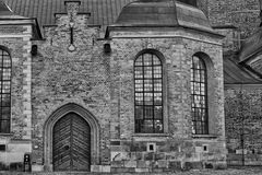 Stockholm sweden capital in black and white Stock Photography