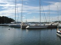 Harbour in Nacka, Stockholm. STOCKHOLM, SWEDEN - CIRCA AUGUST 2005: View of the Nacka harbour Royalty Free Stock Photos