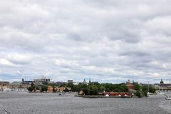 Stockholm, Sweden cityscape from the port royalty free stock image