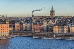 Stockholm, Sweden - December, 2014. Stockholm city at winter time. Stock Images