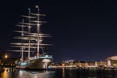 Stockholm, Sweden - December, 2014. Night photo of stockholm city. Royalty Free Stock Photo