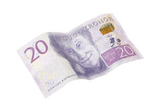 Swedish banknote 20 krona Royalty Free Stock Photo