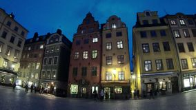 Square in the old town of Stockholm, Sweden. Time lapse stock video footage