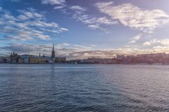 Stockholm, Sweden - December, 2014. Stockholm city at winter time. Royalty Free Stock Photography