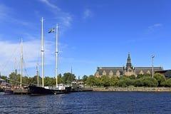 Stockholm, Sweden, Djurgarden Island - Nordic Museum - historica. Stockholm / Sweden - 2013/08/01: Djurgarden Island - Nordic Museum - historical and Royalty Free Stock Photos