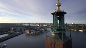Stockholm Sweden early morning. View of Stockholm Sweden early morning stock video footage
