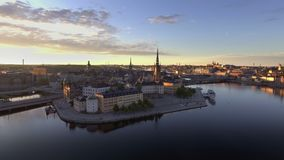 Stockholm Sweden early morning. View of Stockholm Sweden early morning stock video