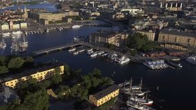 Stockholm Sweden early morning. View of Stockholm Sweden early morning stock footage