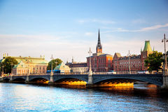 Stockholm, Sweden in Europe. Waterfront view Royalty Free Stock Photography