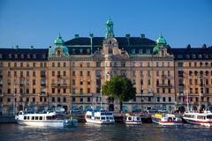 Stockholm, Sweden in Europe. Waterfront view Royalty Free Stock Images