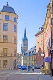 stockholm sweden Folk i Gamla Stan Arkivfoto