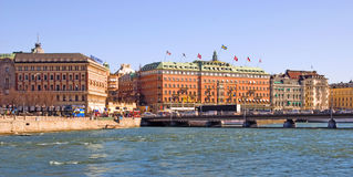 Stockholm. Sweden. Grand Hotel Stock Images