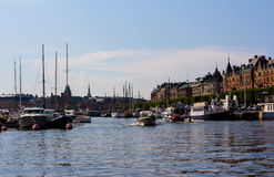 Stockholm in Sweden Royalty Free Stock Photo