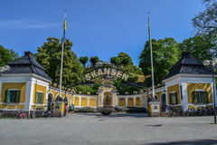 Stockholm, Sweden, July 28, 2014 - Entrance in Skansen. The main entrance to the National Museum. Stockholm, Sweden Stock Images